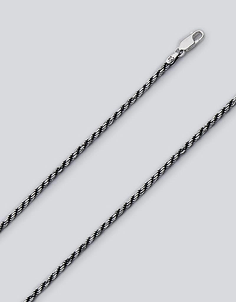 Sterling Silver Rope 035 Necklace Chain Oxidized