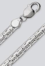 Sterling Silver Oval Byzantine Bracelet