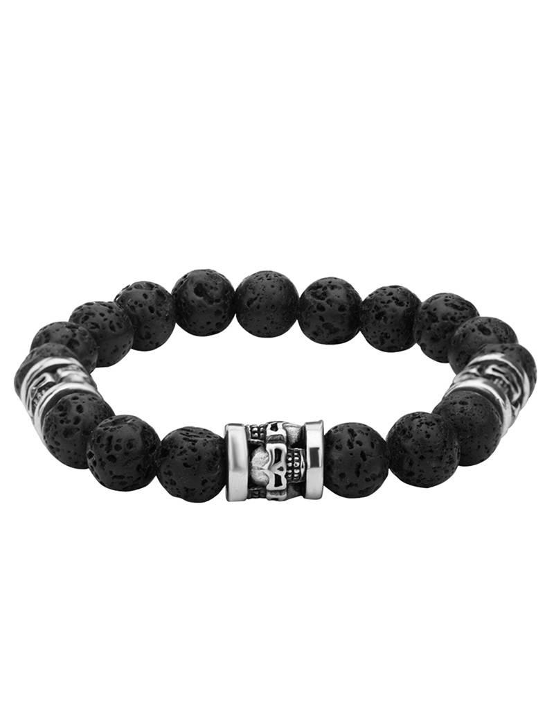 Black Lava Steel Stretch Bracelet