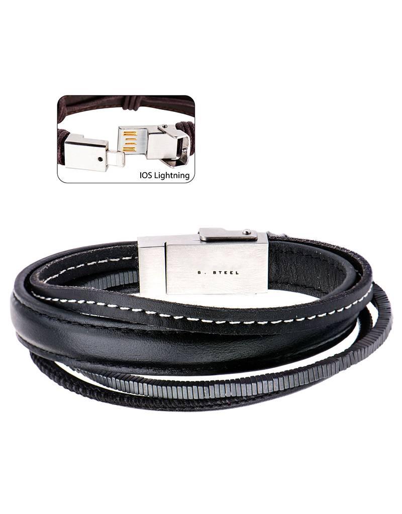 Multi Strand iOS Black Bracelet
