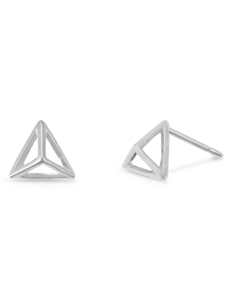 Pyramid Stud Earrings 6mm
