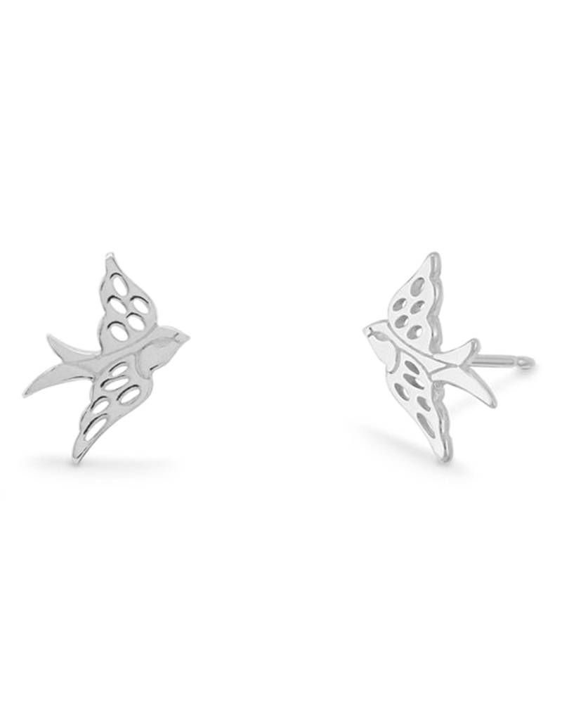 Bird Stud Earrings 11mm