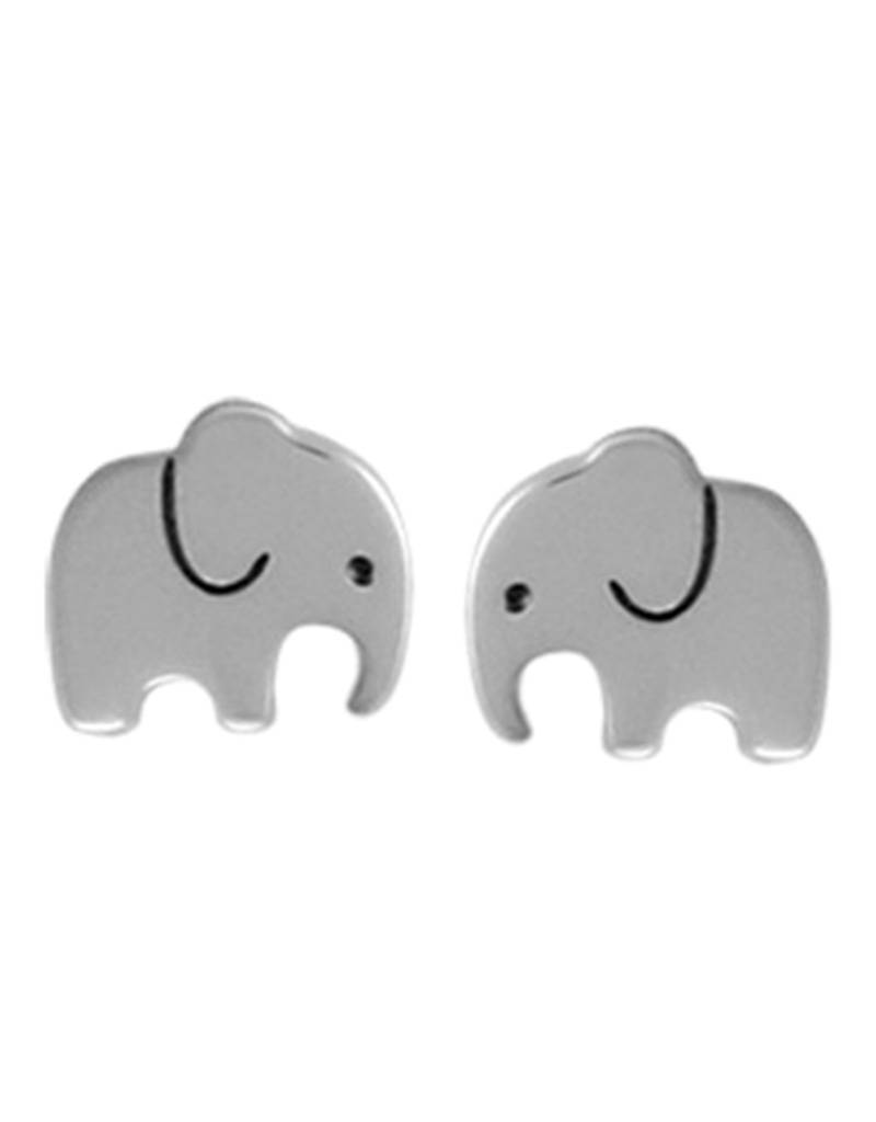 Elephant Stud Earrings 7mm