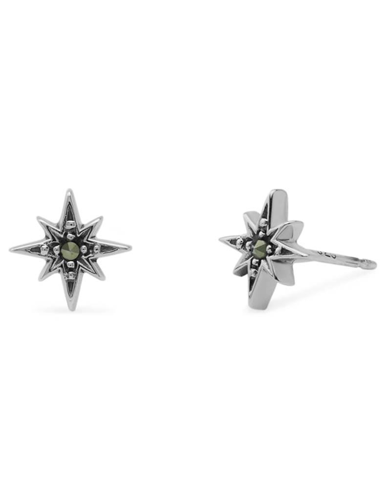 Mracasite Star Stud Earrings 8mm