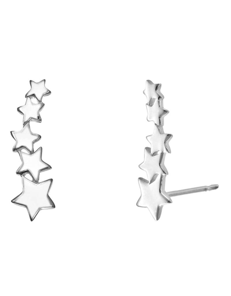 Stars Ear Climber Post Earrings 16mm