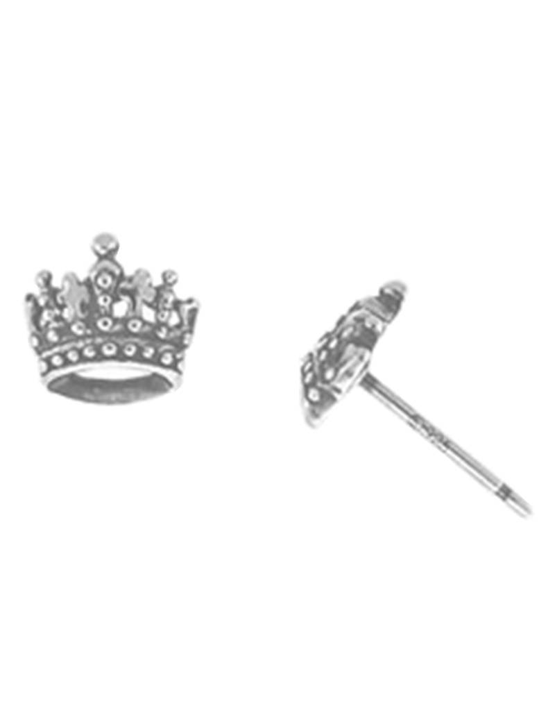 Crown Stud Earrings 7mm