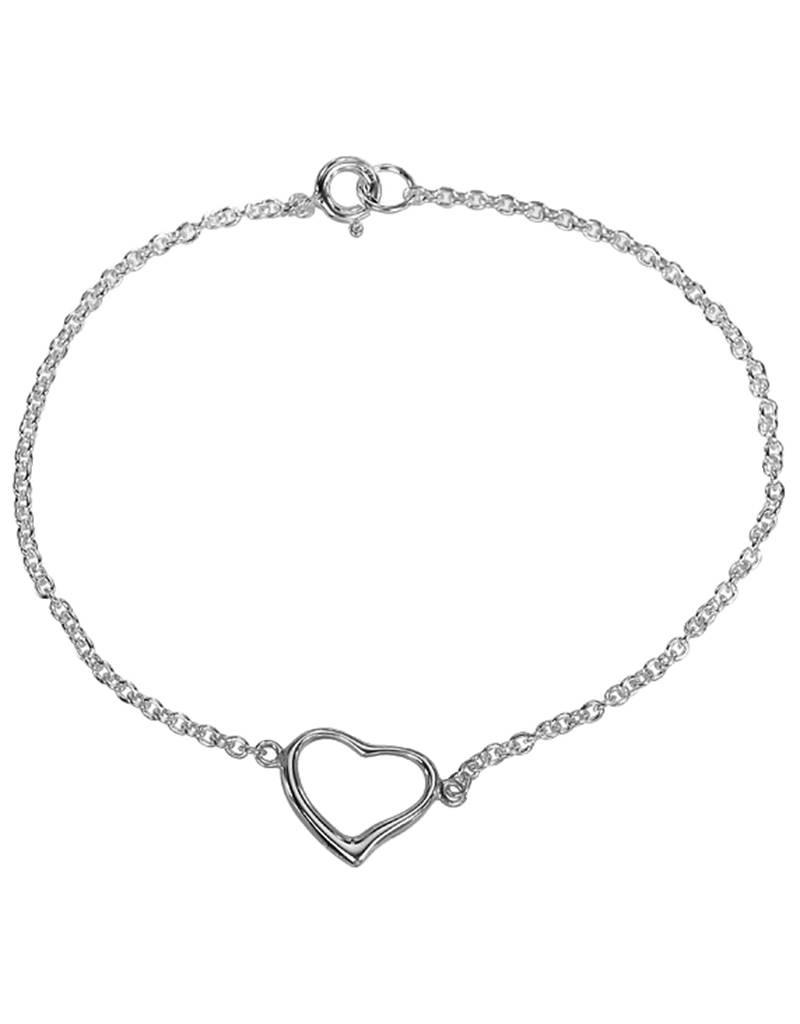 """Open Heart Bracelet 7.5"""""""