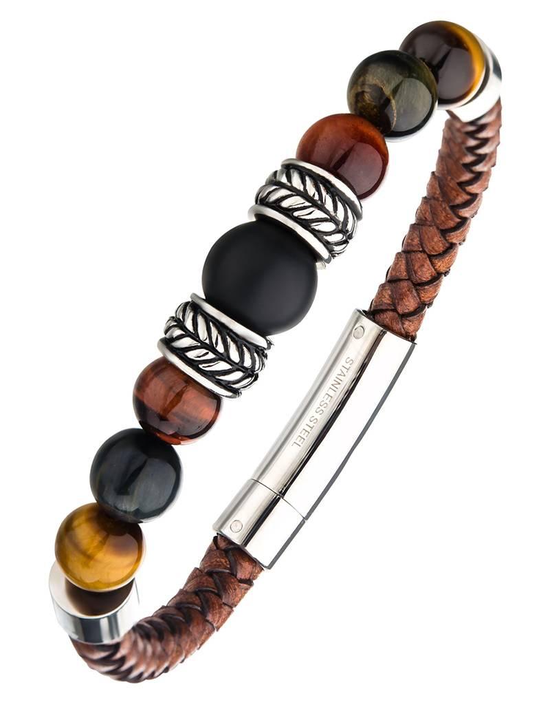 """Onyx Tiger Eye Bracelet 8"""""""