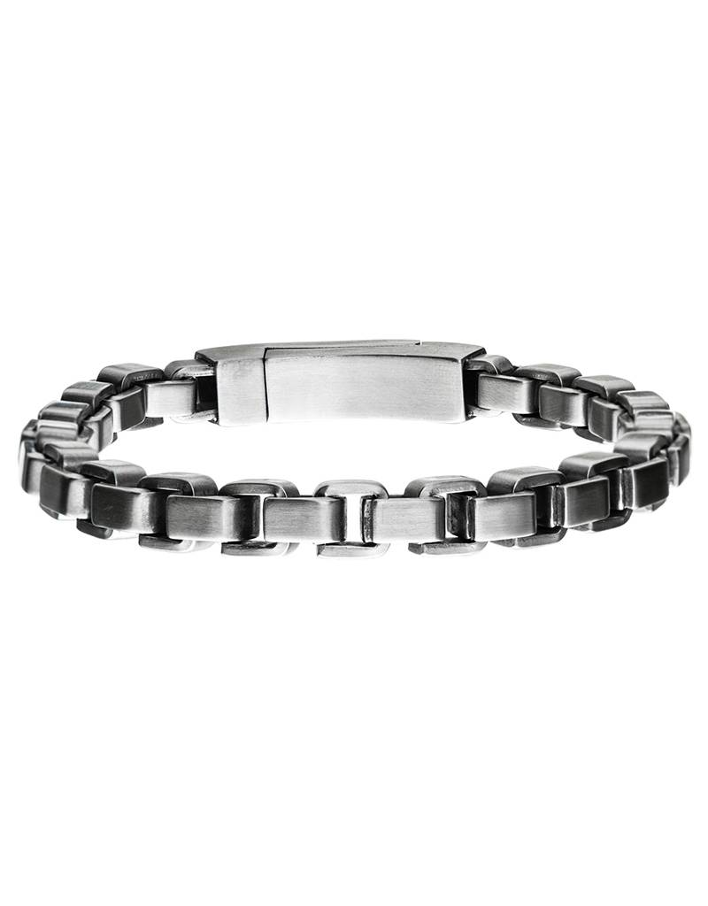8mm Steel Box Chain Bracelet 8.25""
