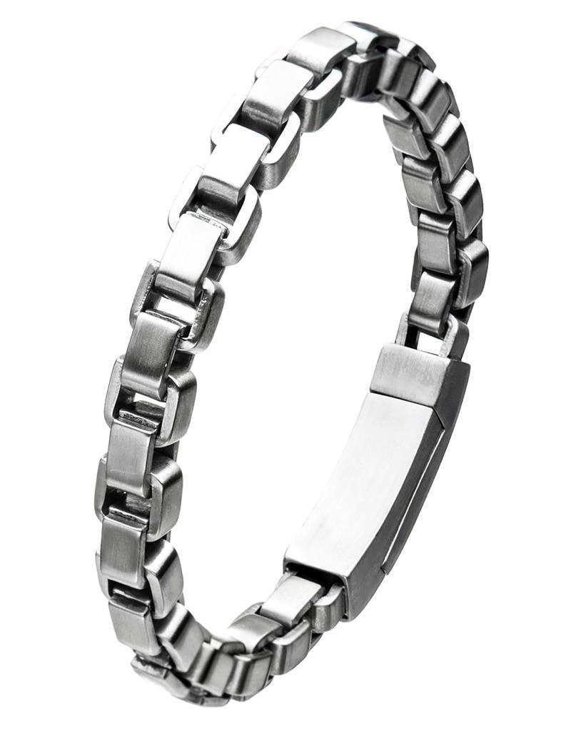 """Men's Stainless Steel 8mm Box Link Chain Bracelet 8.25"""""""