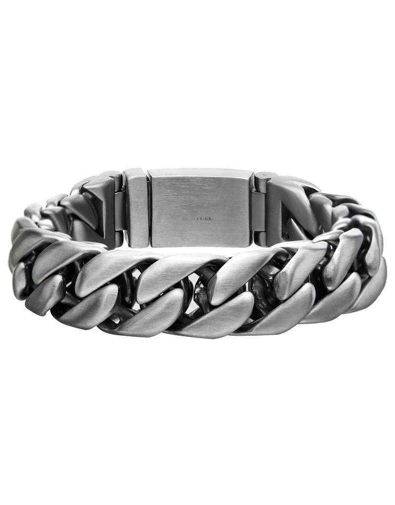 """Matte Double Curb Bracelet 8.5"""""""