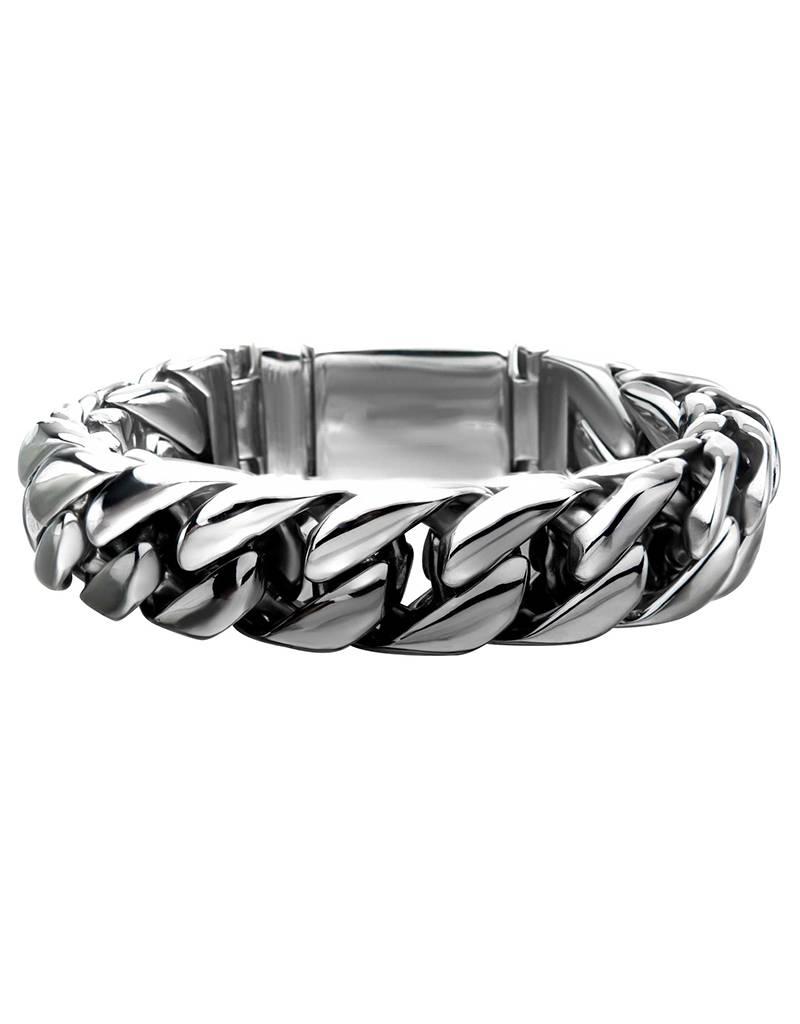 "Shiny Double Curb Bracelet 8.5"""