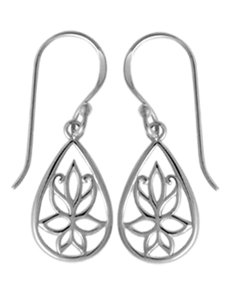 Teardrop Lotus Earrings