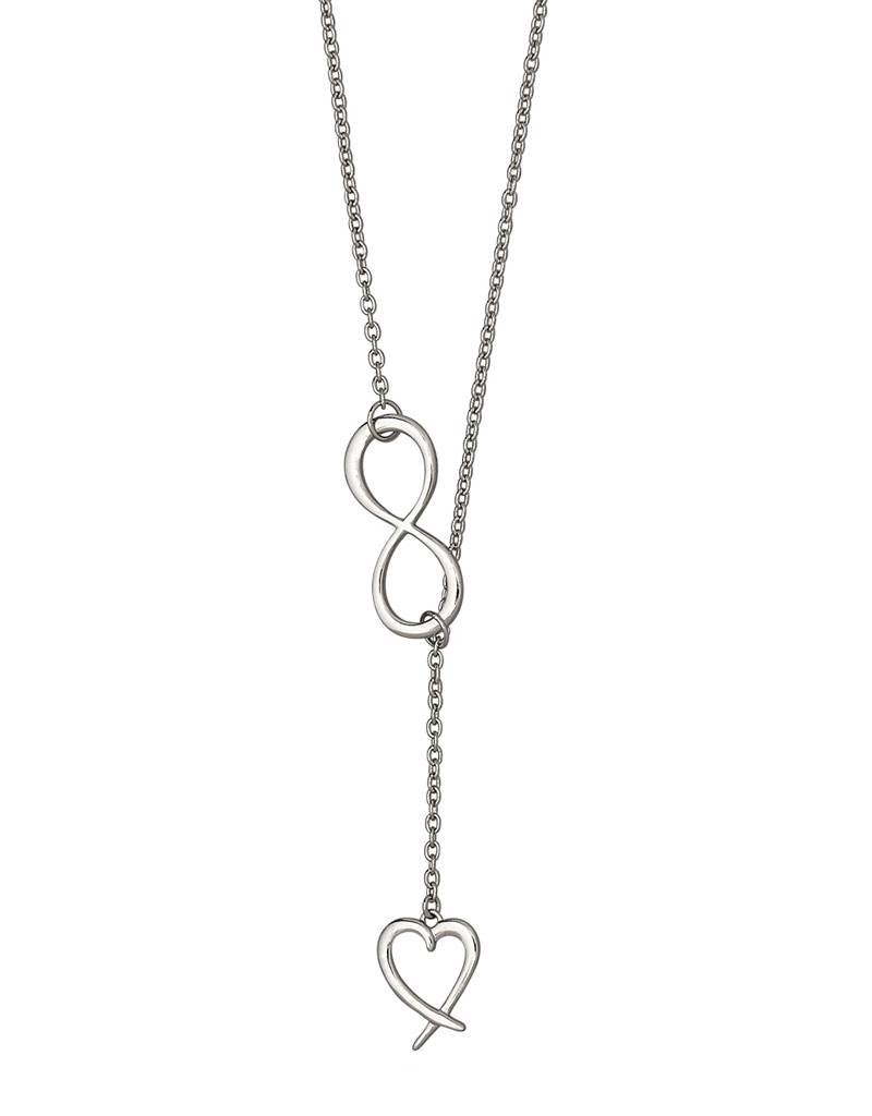 Infinity Heart Lariat Necklace