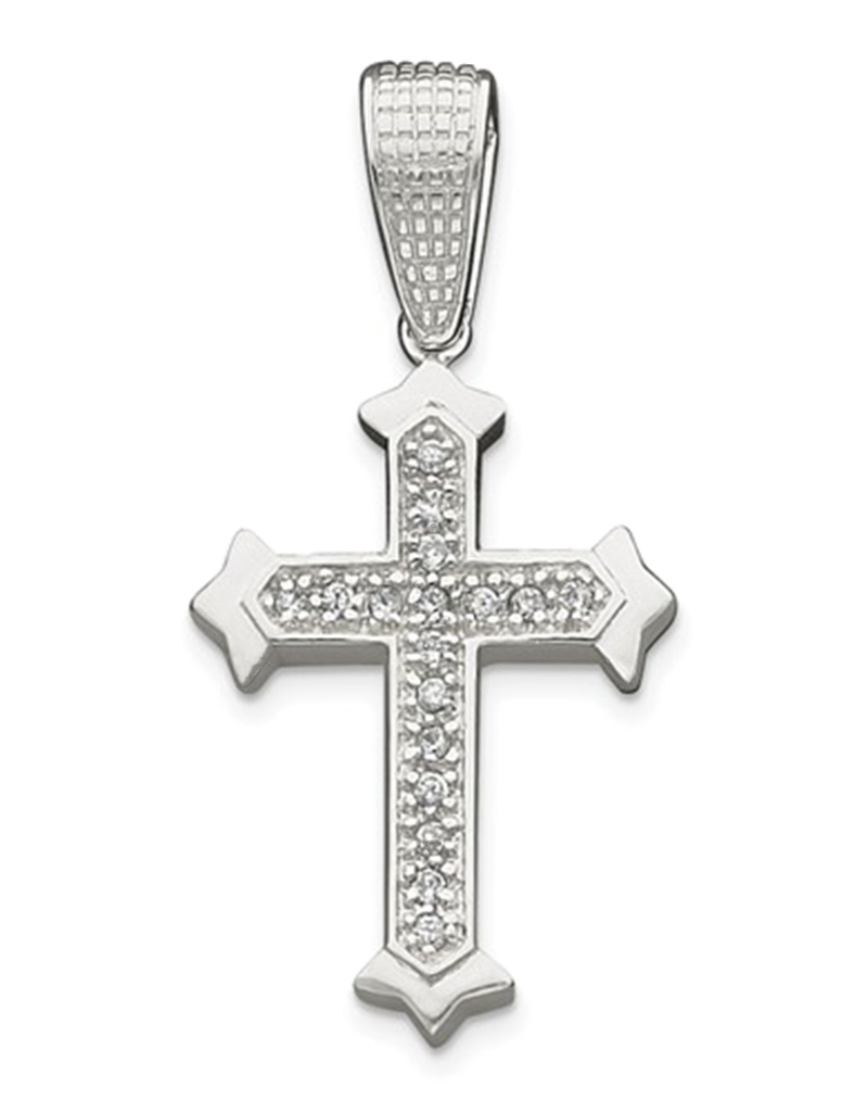 Cross CZ Pendant 60mm