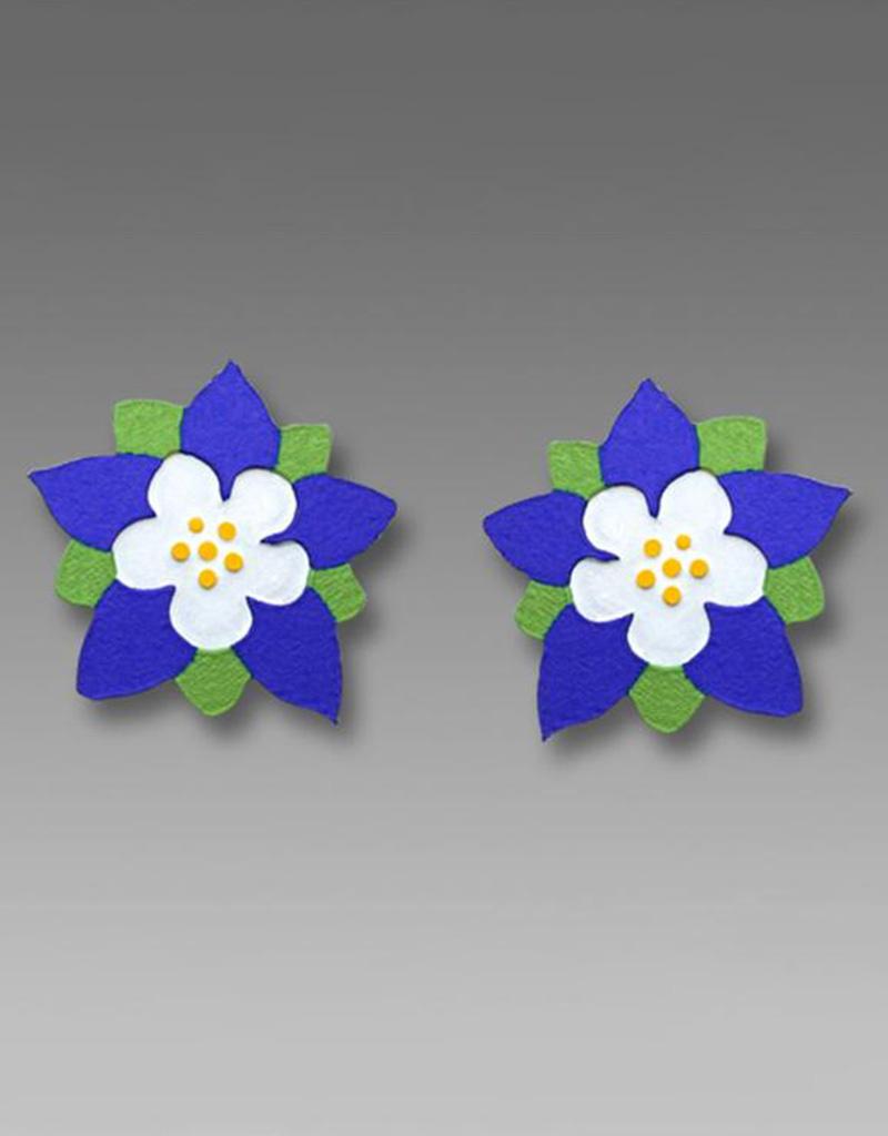 Columbine Flower Post Earrings