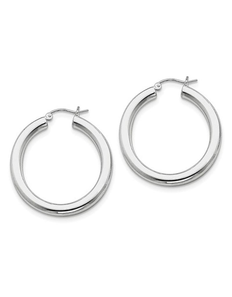 4mm Wide Hoop Earrings 34mm