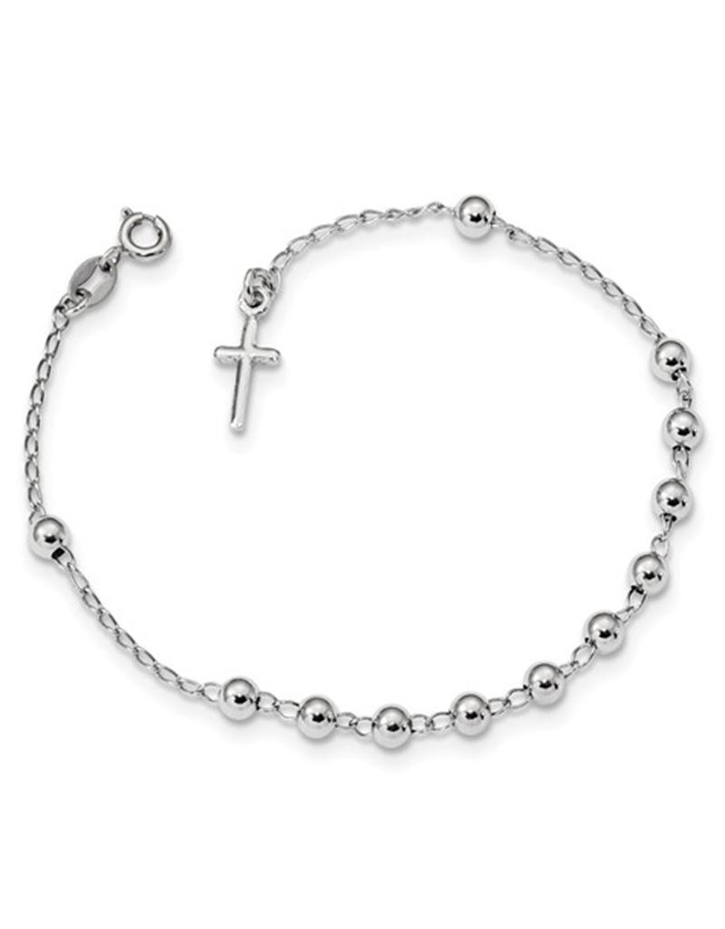 """Bead with Cross Bracelet 7"""""""
