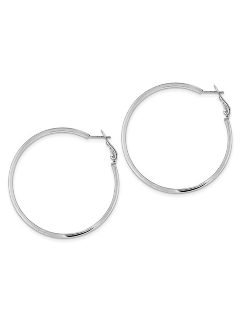 Omega Back Hoop Earrings 52mm