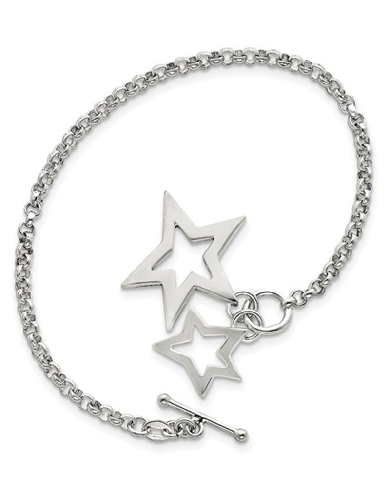 "Star Charm Bracelet 7"""