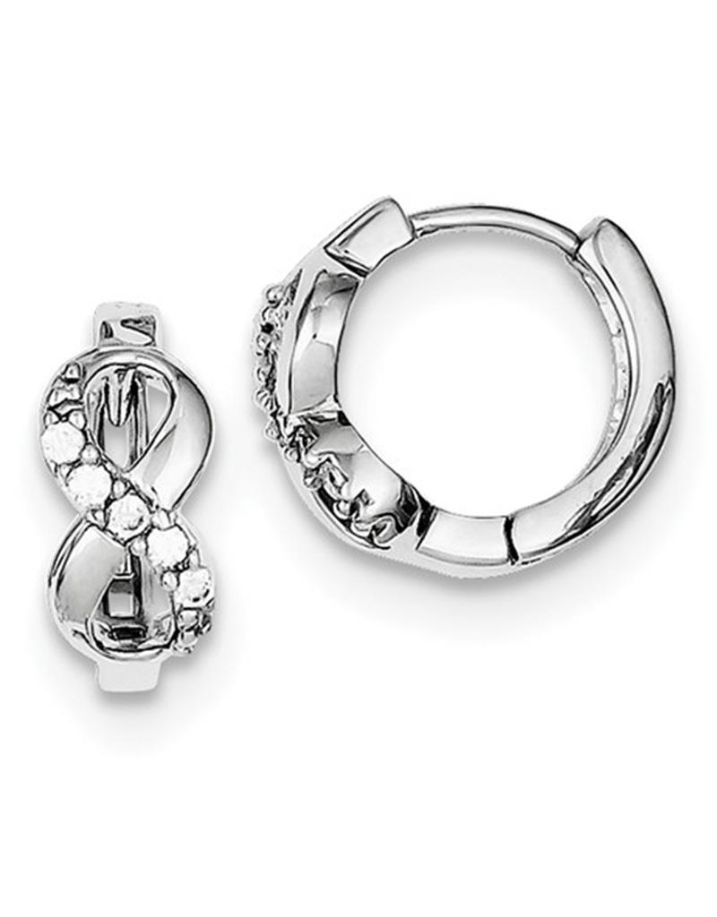 Infinity CZ Huggie Earrings 14mm