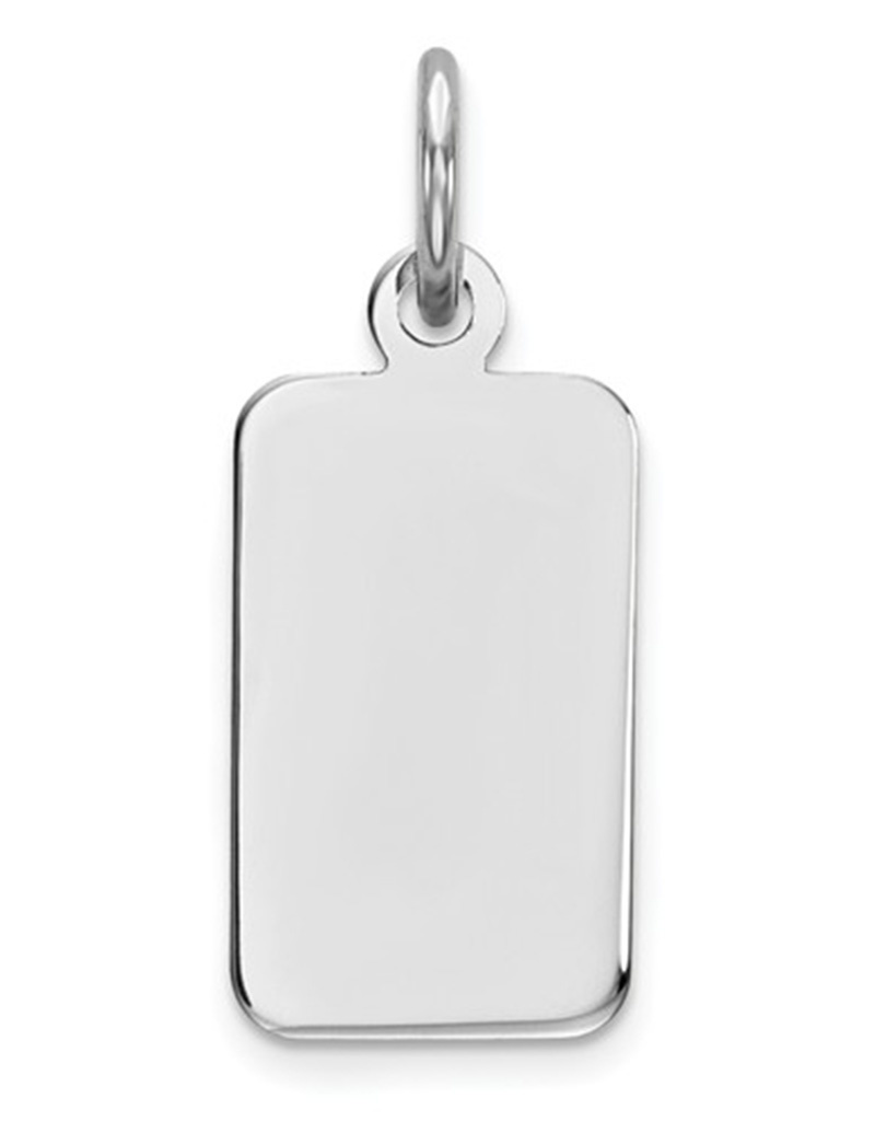 Rectangle ID Tag Pendant 13mm