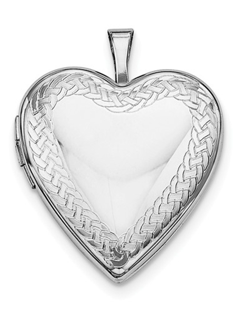 Heart Celtic Locket Pendant 21mm
