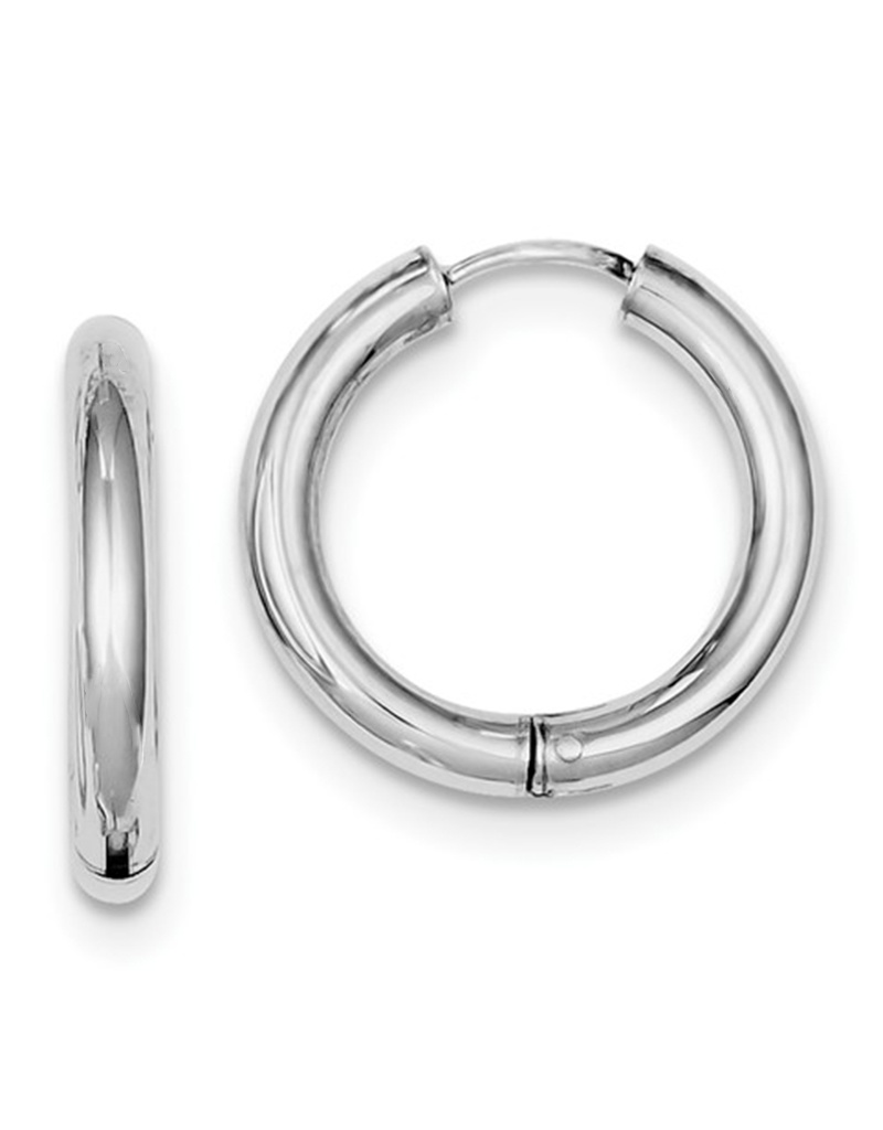Round Hinged Hoop Earrings 21mm