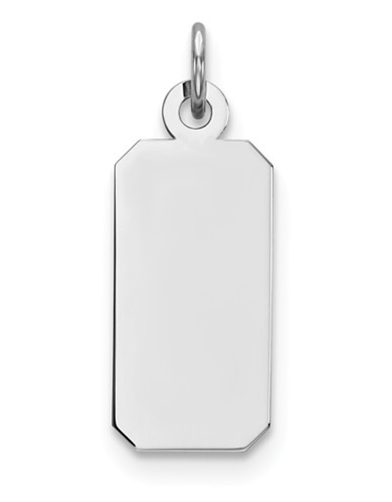 Rectangle ID Tag Pendant 18mm