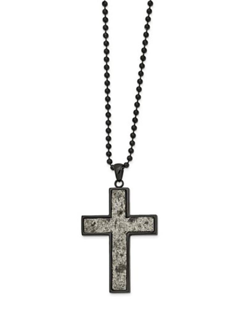 Rock Inlay Cross Necklace