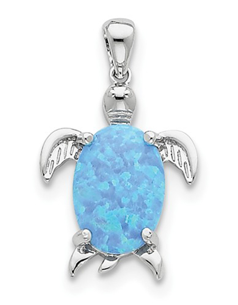 Opal Turtle Pendant 20mm