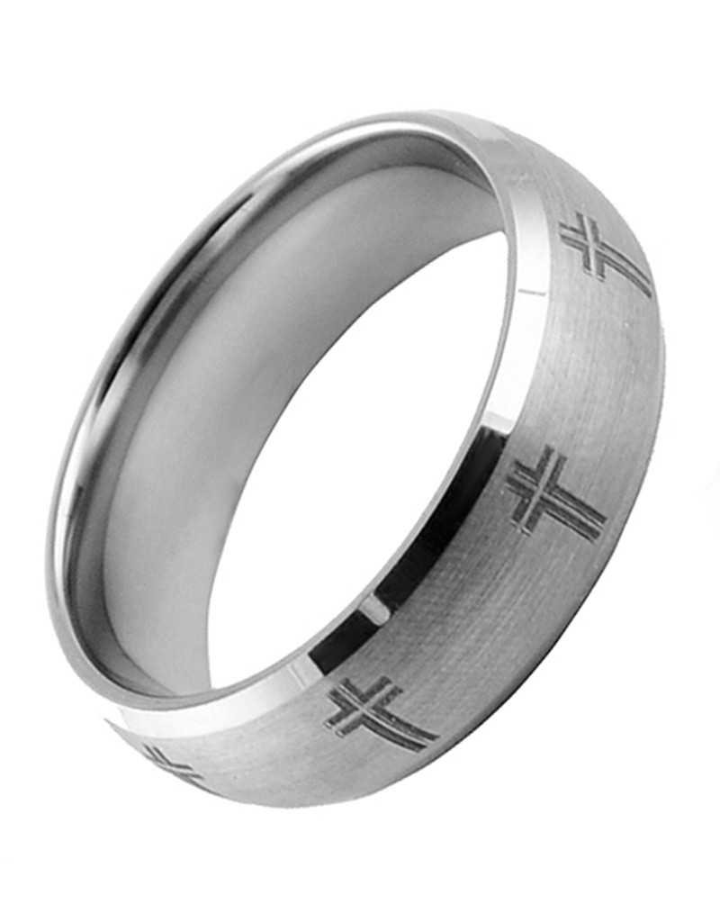 Cross Tungsten Band 10
