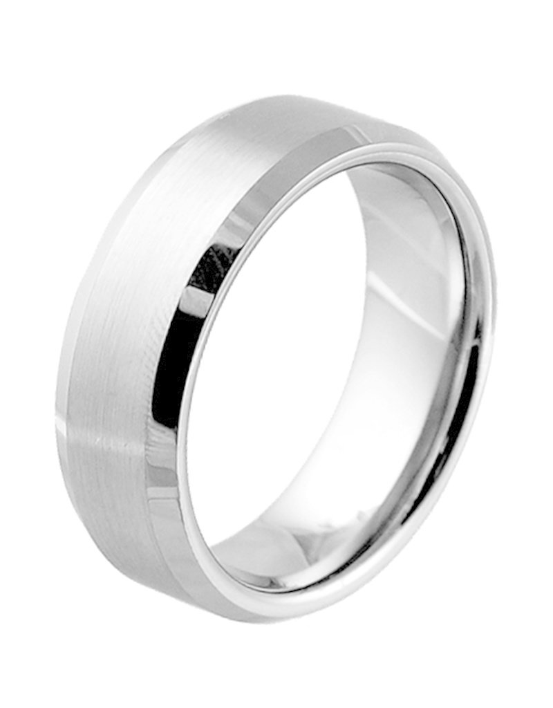 Men's Brushed Tungsten Band Ring