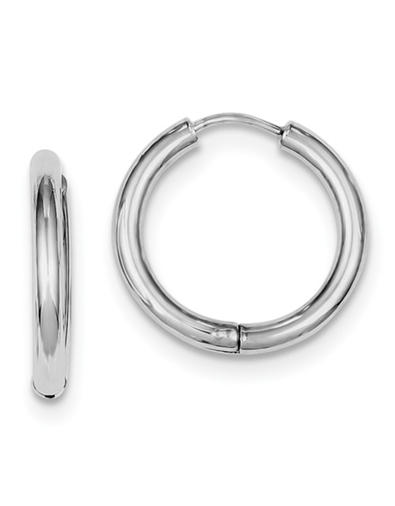 Round Hinged Hoop Earrings 20mm