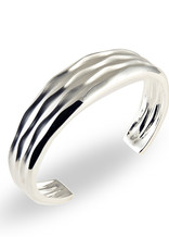 ZINA Zina Sterling Silver Women's Desert Waves Tapered Cuff Bracelet