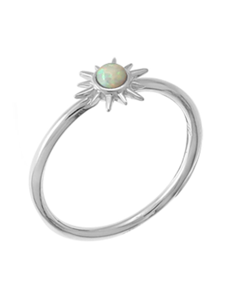 Sunburst Opal Ring