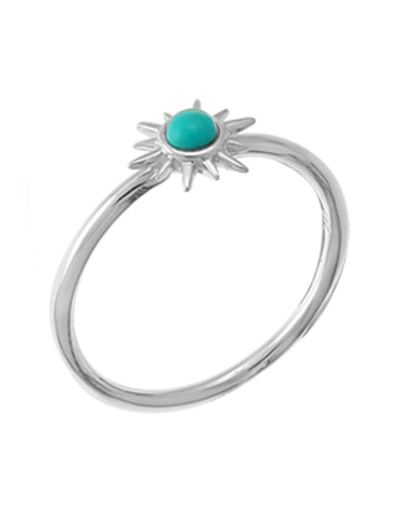 Sunburst Turquoise Ring