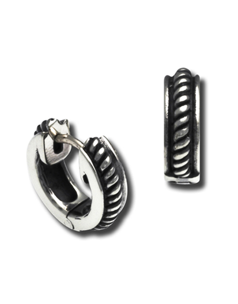 ZINA Mini Rope Huggie Earrings 12mm