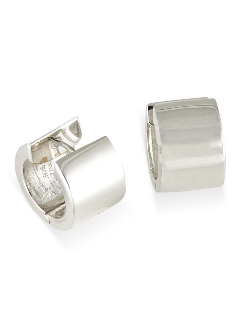 ZINA Wide Flat Hinged Hoop Earrings 17mm