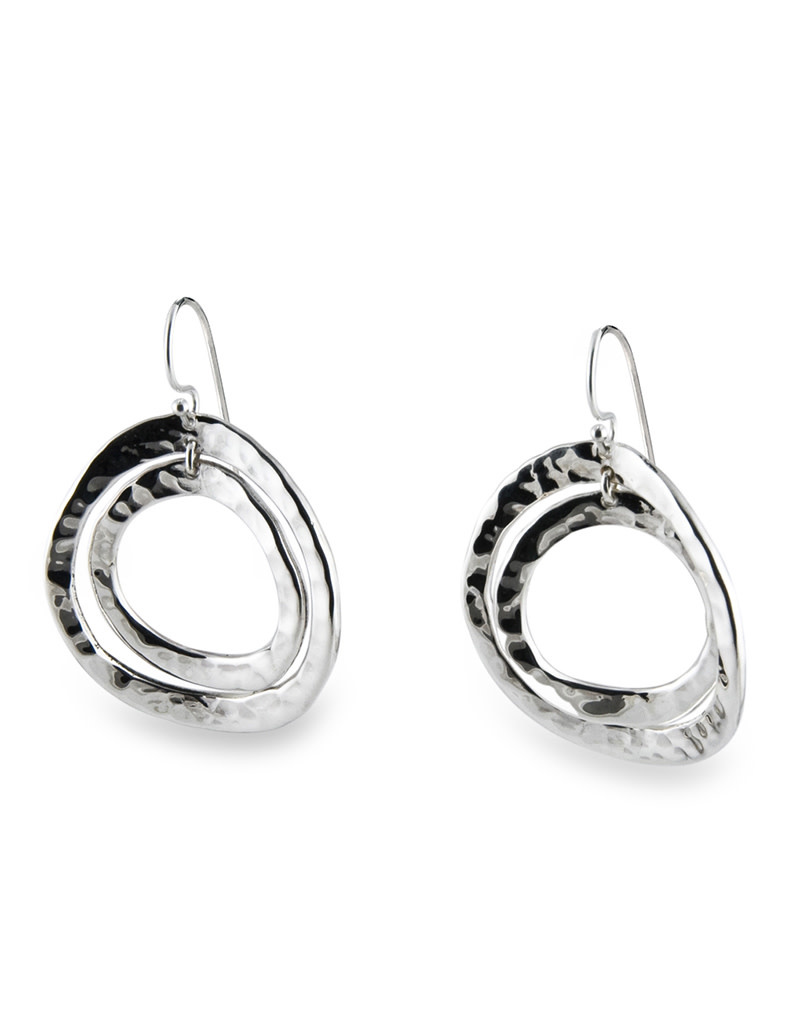 ZINA Rippled O Earrings 34mm