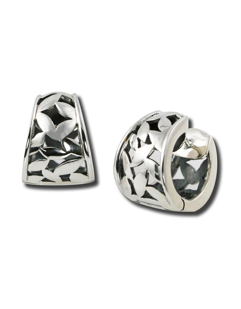ZINA Tapered Confetti Hoop Earrings 16mm