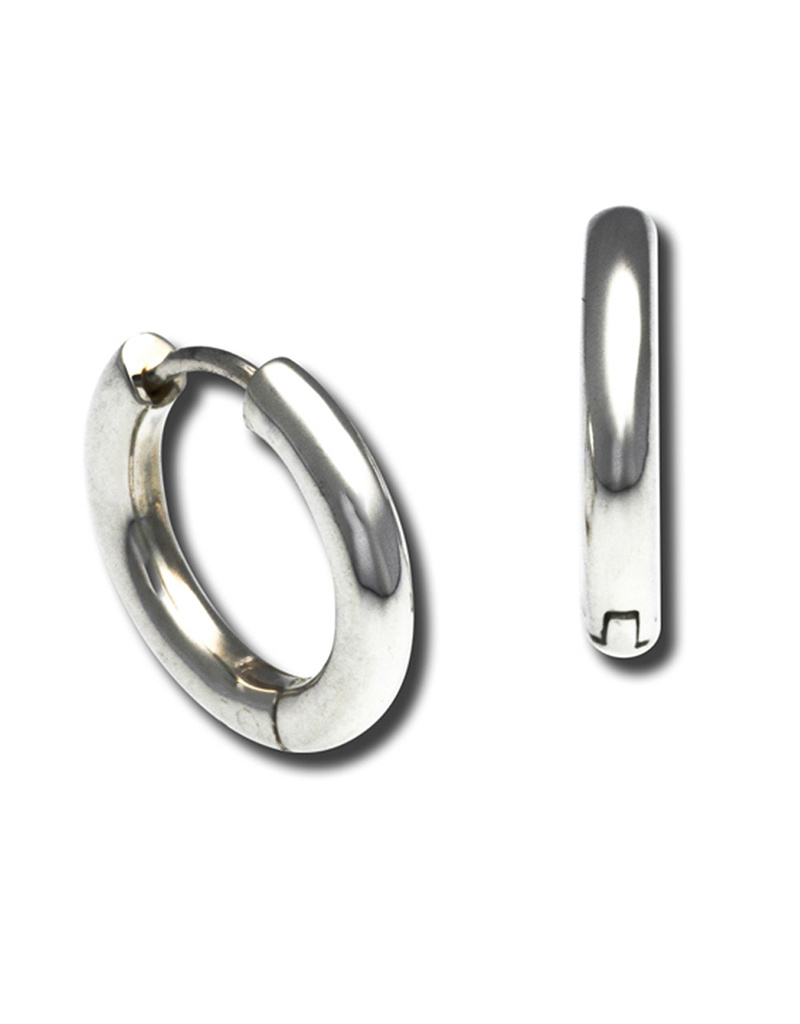 ZINA Round Hinged Hoop Earrings 25mm