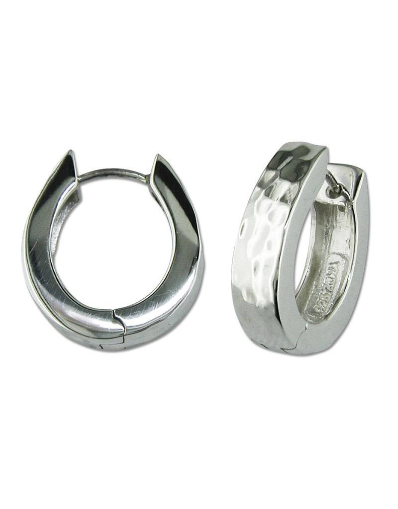 ZINA Hammered Hinged Hoop Earrings 20mm