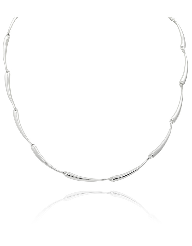 ZINA Curved Bar Link Necklace 17""