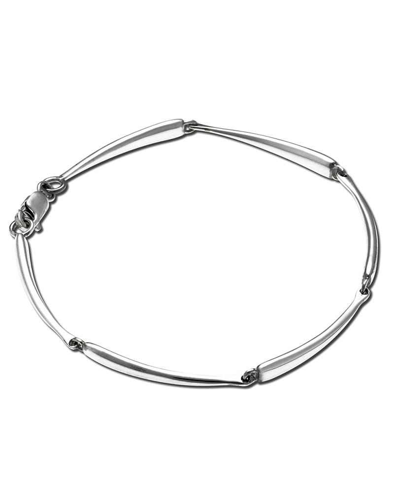 ZINA Curved Bar Link Bracelet 7""