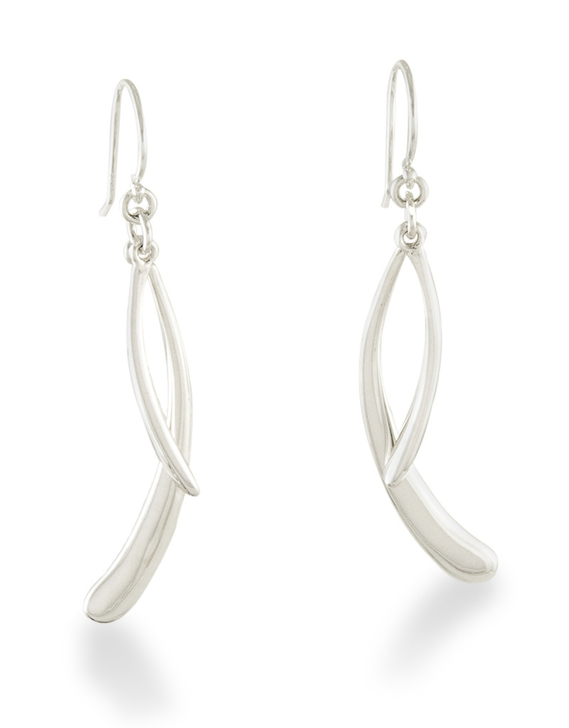 ZINA Double Drip Drop Earrings 42mm