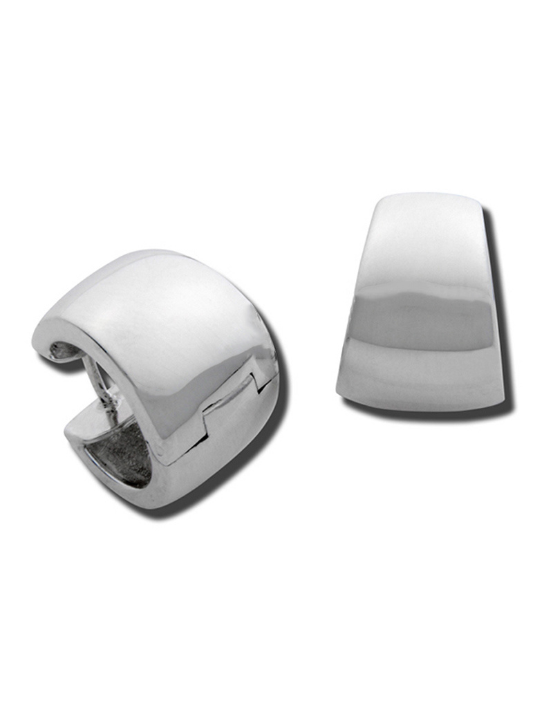 ZINA Wide Tapered Hinged Hoop Earrings 17mm