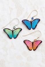 HOLLY YASHI Blue Radiance Bindi Butterfly Earrings *90130