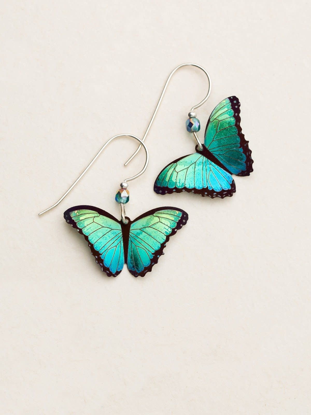 HOLLY YASHI Green Flash Binidi Butterfly Earrings *90131