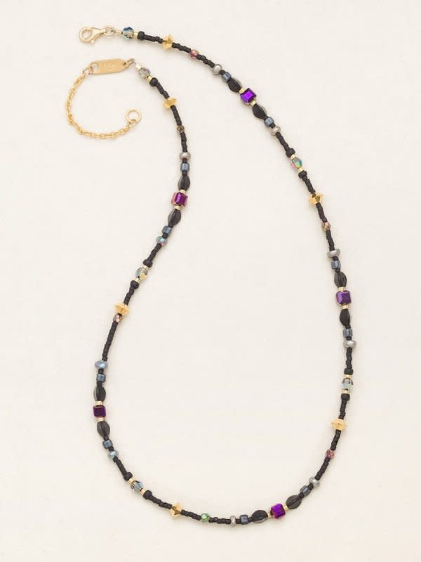 HOLLY YASHI Galaxy Black Sonoma Bead Necklace *18722